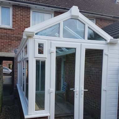 new white coloured conservatory