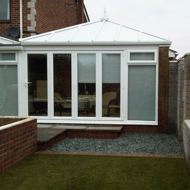 new conservatory and patio