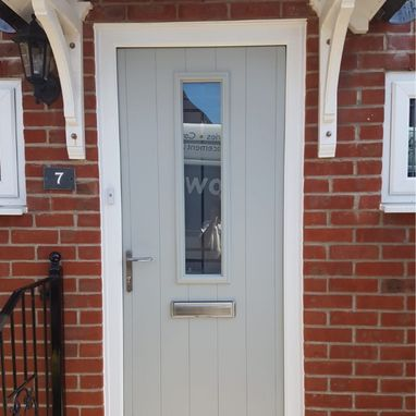 light grey door