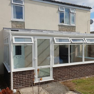 new conservatory next to garden
