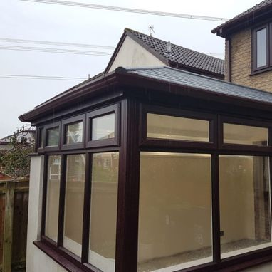 brown new conservatory